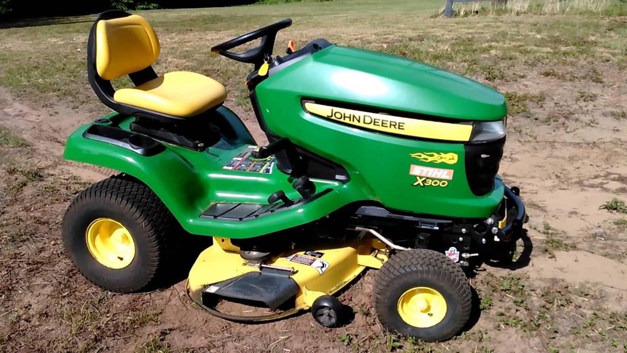 John Deere Lawn Tractors X300 Series : John deere updates their series lawn mowers